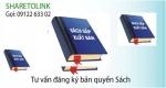 Đăng ký bản quyền sách, tác giả sách, tác phẩm sách